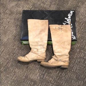 Same Edelman real leather boots